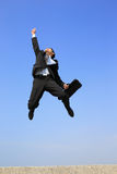 Happy business man jump Royalty Free Stock Image