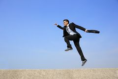 Happy business man jump Royalty Free Stock Photos