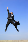 Happy business man jump Royalty Free Stock Photography