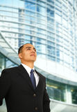 Happy Business Man Outside Building Royalty Free Stock Photos