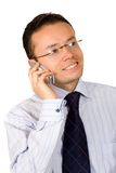 Happy business man on the phone Stock Photo