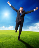 Happy business man Royalty Free Stock Photography