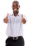 Happy business man with thumbs up Royalty Free Stock Photos