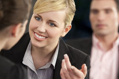 Happy Business Meeting Stock Images