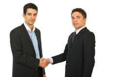 Happy business men gives handshake Stock Image