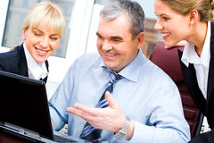 Happy business partners Stock Images