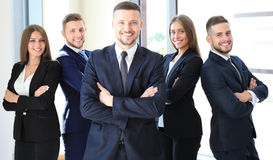 Happy business partners Royalty Free Stock Image