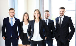 Happy business partners Stock Image