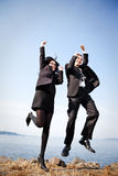 Happy business people Royalty Free Stock Photos