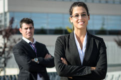 Happy business people royalty free stock images