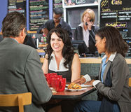 Happy Business People in Cafe Royalty Free Stock Photos
