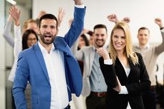 Free Happy Business People Celebrating Success Stock Images - 132914394