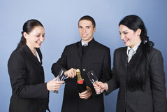 Happy business people celebration Stock Images