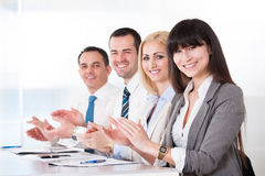 Happy Business People Clapping Royalty Free Stock Images