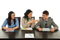Happy business people communication Stock Photos
