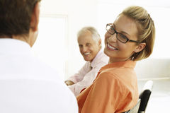 Happy Business People In Conference Room Royalty Free Stock Photo