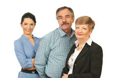 Happy business people group Stock Images