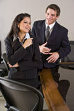 Happy business people in office workplace Royalty Free Stock Photography