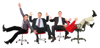 Happy Business People On Chairs Royalty Free Stock Photography