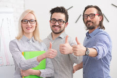 Happy business people Royalty Free Stock Image