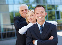 Happy business people team. With smiling employees Royalty Free Stock Photography
