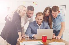 Happy business people team together have fun in office Royalty Free Stock Photos