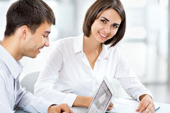 Happy business people Stock Images