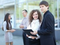 Happy business people working Royalty Free Stock Photography