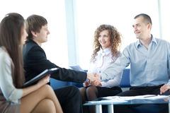 Happy business people working Royalty Free Stock Images