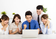 Happy business people working together at  meeting Royalty Free Stock Photography