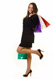 Happy business shopper Stock Photography