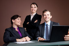 Happy business team Royalty Free Stock Image