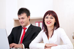Happy business team Royalty Free Stock Images