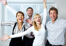 Happy business team Stock Image