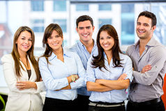 Happy business team Stock Images