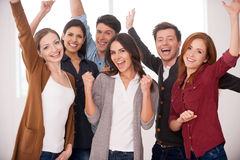 Happy business team. Stock Image