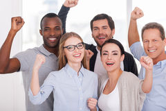 Happy business team. Stock Images