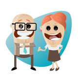 Happy business team. Illustration of a happy business team Stock Photos