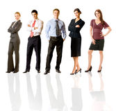 Happy business team, isolated Stock Images