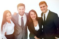 Happy business team.isolated on a white background. Business concept Royalty Free Stock Photography