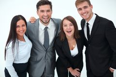 Happy business team.isolated on a white background. Business concept Stock Photography