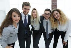 Closeup.happy business team looking at camera. Happy business team looking at camera. the concept of teamwork Royalty Free Stock Photos