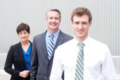 Happy business team at office Stock Photos