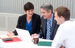 Happy business team at office Royalty Free Stock Photo
