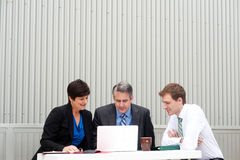 Happy business team at office Royalty Free Stock Photography
