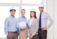 Happy business team in office Royalty Free Stock Photo