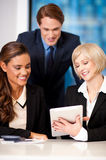 Happy business team at the office Royalty Free Stock Photo
