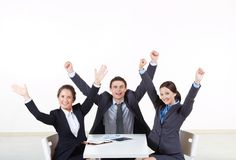Happy business team Stock Photos