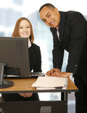 Happy Business Team Stay In Office Stock Image