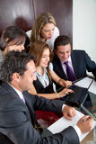 Happy business team working Stock Images
